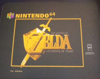 Zelda Ocarina of Time mousepad! N64. PAL. Others available.