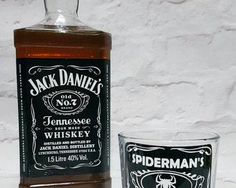 Spiderman Whiskey Glass