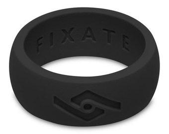 Fixate Designs Men's Jet Black FX8 Silicone Wedding Ring