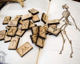 Elder Futhark, Runes, Ash wood + blank rune
