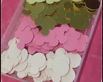 Minnie Mouse Pink and Gold Theme 180 Pieces Confetti Birthday Party Favor Decoration