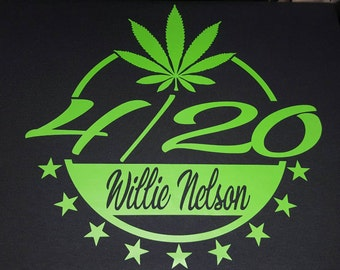 Willie Nelson Roll Me Up 4/20 shirt