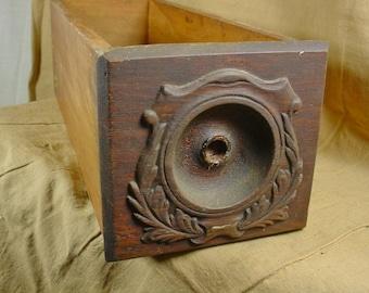 Antique Sewing Machine Drawer Salvaged From Singer Treadle Machine
