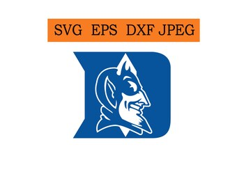 Duke Blue Devils logo in SVG / Eps / Dxf / Jpg files INSTANT DOWNLOAD!