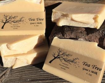 Tea Tree Goat's Milk Homemade Soap Bar