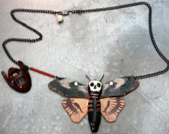Silence of the Lambs Death moth necklace