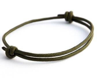 Discreet surfer bracelet OLIVE - Bangle - Friendship Bracelet - bracelet