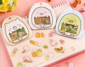 Sumikko Stickers, Planner Sticker, Japanese stickers, kawaii stationary, cute sticker, sticker flakes, Sticker set, Filofax, Calendar, 50pcs