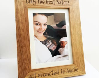 Personalised 'Only the best Brothers' solid oak engraved photo frame