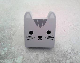Kawaii Nori Cat Drawer Knob Drawer Pull Cupboard Door Knob Cat Decor