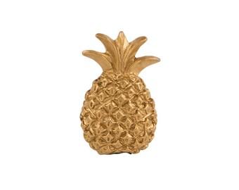 Gold Golden Pineapple Drawer Knob Handle Cupboard Knob Pull Fruit Drawer Pull Pineapple Tropical Decor