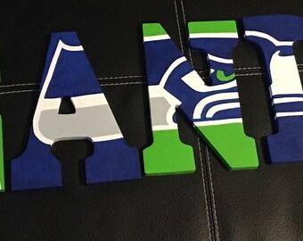 Custom Name- Seattle Seahawks Theme