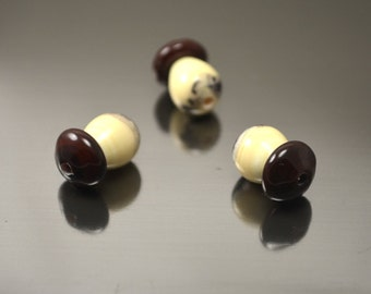 Mushroom beads, lampwork mushrooms, Glass mushrooms, Artisan lampwork beads, mini mushrooms, Lampwork glass beads, miniature mushrooms