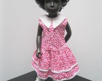 Drop waist pink dress for 16 inch Sasha doll