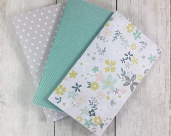 "3""x5"" Notebook, Blank Paper Notebook,  Set of Notebooks, Mini Notebooks, Mini Journal, Journal Set, Notebook Set N226"
