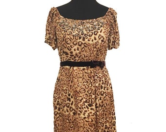 Twelve by Twelve Couture Animal Print Dress / Cheetah Print Dress / Jaguar Print Dress