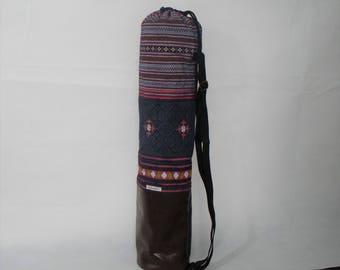 Yoga bag, faux leather, single piece
