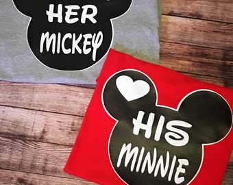 His Minnie, Her Mickey Tees