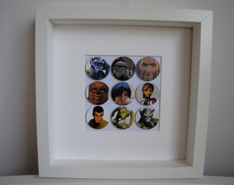 Star Wars Rebels bubble frame. Your favourite Star Wars characters framed. Handmade