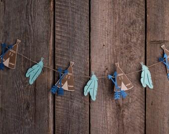 Navajo Garland - Paper Garland, Party Decor, Bridal Shower Decor, Baby Shower, Home Decor