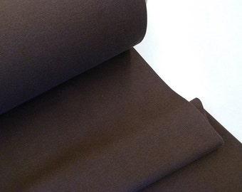 Brown fine knitting rib fabric Extrabreit