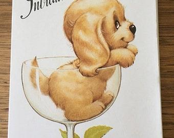 Vintage | Puppy | Birthday | Invitations