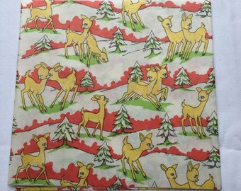 Vintage | Christmas | Deer | Wrapping Paper