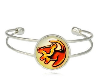 Simba Lion King Cuff Bangle Simba Lion King Bracelet Simba Bracelet