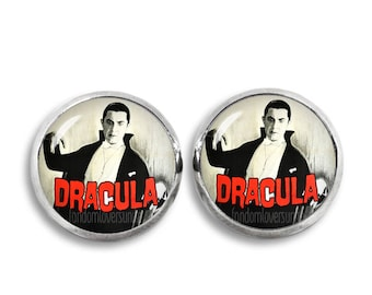 Dracula Stud Earrings Bela Lugosi Earrings Vampire 12mm Earrings Fandom Jewelry Goth