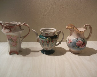 Antique Porcelain Pitchers and Coffee/Tea Pot --- Venetian Lagoon --- Royal V & B --- Germany B2 --- Must See Must GO 1920's-1950's