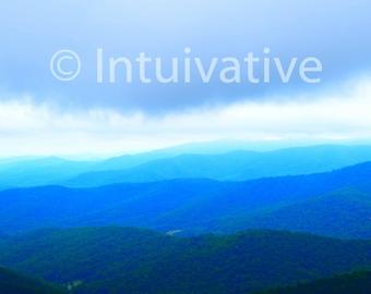 Spectacular Blue Ridge Mountains of Shenandoah National Park! #Virginia #SkylineDrive #NationalParks #CanvasPrints