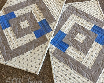 Handmade Placemats, quilted Placemats, fabric placemats