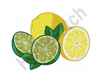 Lemon And Lime - Machine Embroidery Design