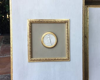 Intaglio Art with Gold Made to Order