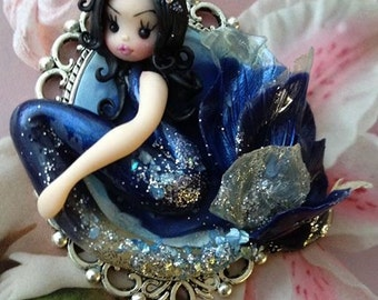 Polymer clay pendant,dolls,gift for her,dolls,miniatures,polymer clay sculptures,mermaids