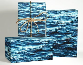 Ocean Water Wrapping Paper; oceanic gift wrapping; christmas Gift Wrapping; Christmas Wrapping Paper; Gift Wrapping; beach wrapping paper