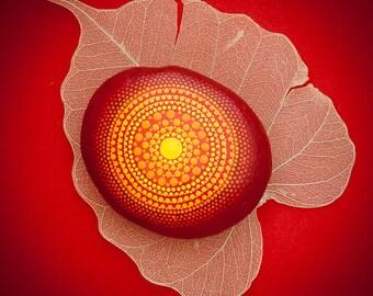 Mandala Stone 'Autumn's Gift'