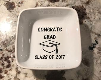 Graduation Gift/Class of 2018/End of Year Gift/Jewelry  Trinket Dish