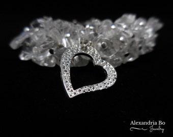 Ice Heart Bracelet