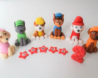 paw patrol 3d cake toppers edible  personalised decoration