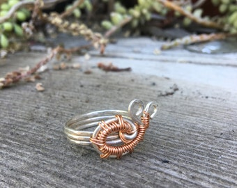 Size 9 Sterling Snail Ring