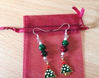 Bautiful Christmas charm earrings
