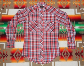 Daedstock Montgomery Ward Western Pearl Snap Long Sleeve Shirt Size small