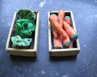 For the dollhouse ... two old fruit crates with vegetables ... 30 years!