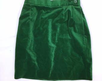 Yves Saint Laurent  Vintage Velvet mini skirt