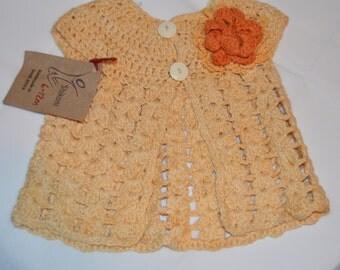 6 - 12 Months Girls' Yellow Cardigan