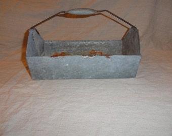 Vintage Unique Metal Tray with Handle