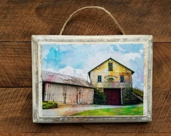 Barn, Farm, Rustic, Country, Wood Plaque, Wall Hanging, Photograph