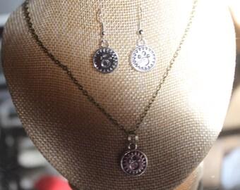 """parure necklace + earrings steampunk """"2"""""""
