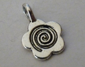 Pendant Bails, Glue on Bails, Silver tone Metal Pendant Holders 15x11mm, Fused Glass Pendant Bails with 3mm Hole, DIY Jewelry Findings